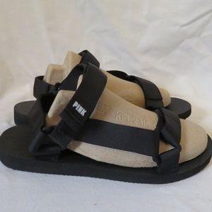 VS Pink Sandals Fisherman Sport Dorm Shoes Black x